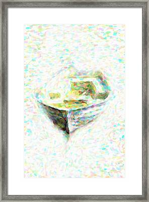Abstract Rowboat Framed Print