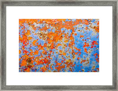 Abstract - Rust And Metal Series Framed Print by Mark Weaver