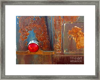Abstract Rust Framed Print by Marilyn Smith