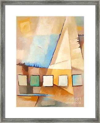 Abstract Sail Framed Print