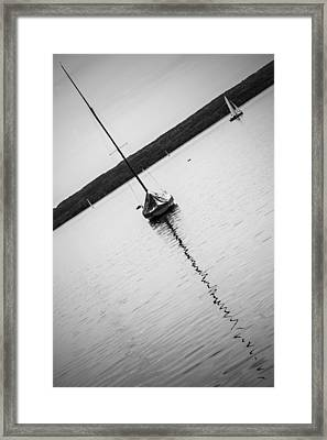 Abstract Sailing Boat Framed Print
