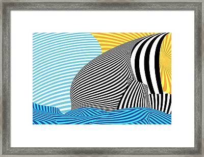 Abstract - Sailing Framed Print by Mike Savad