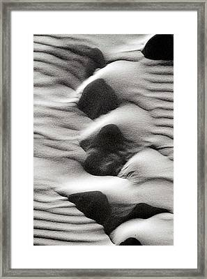 Abstract Sand 6 Framed Print by Arie Arik Chen