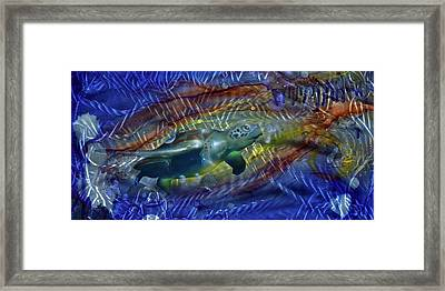 Abstract Sea Turtle 1 Framed Print by Luis  Navarro