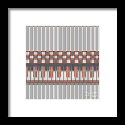 Textile Design Framed Prints