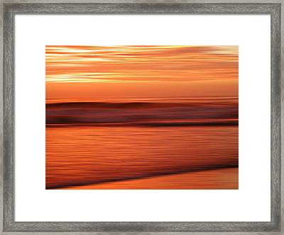 Abstract Seascape At Sunset Framed Print