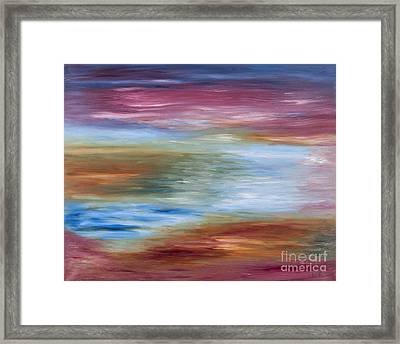 Abstract Seascape Framed Print