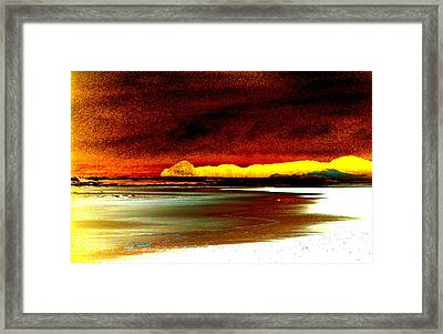 Abstract Seascape Framed Print by Mamie Gunning