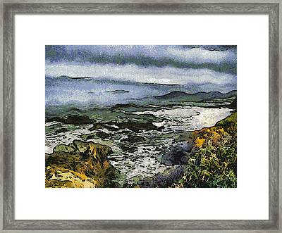 Abstract Seascape Morro Bay California Framed Print by Barbara Snyder