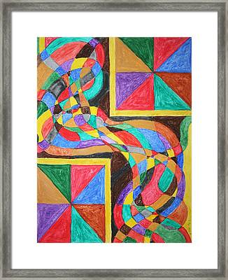 Framed Print featuring the painting Alien By Windows by Stormm Bradshaw