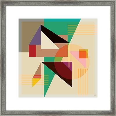 Abstract Shapes #4 Framed Print by Gary Grayson