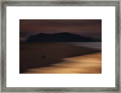 Framed Print featuring the photograph Abstract Shoreline 73a0160 by David Orias