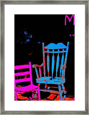 Abstract Sitdown And M Framed Print by Kathy Barney