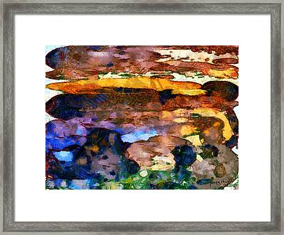 Framed Print featuring the painting Abstract Skies by Wayne Pascall