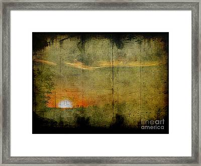 Abstract Sky 7 Framed Print by Jim Wright