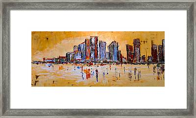 Abstract Skyline Framed Print by Zeke Nord