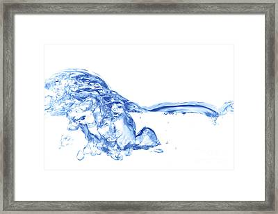 Abstract Soar Water  Framed Print
