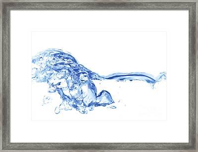 Abstract Soar Water  Framed Print by Michal Boubin