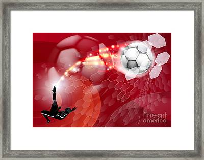 Abstract Soccer Sport Background Framed Print by Christos Georghiou