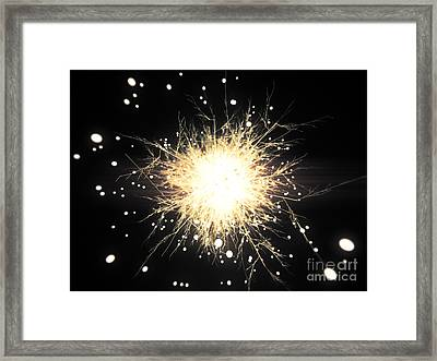 Abstract Sparkle Framed Print by Pixel Chimp
