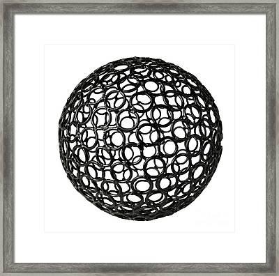 Abstract Sphere Framed Print by Tony Cordoza