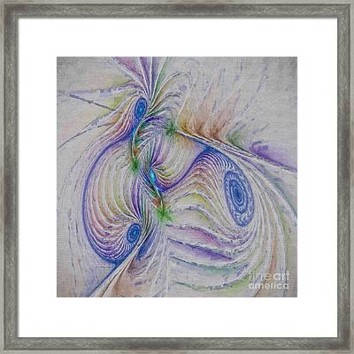 Abstract Spiral Framed Print by Deborah Benoit