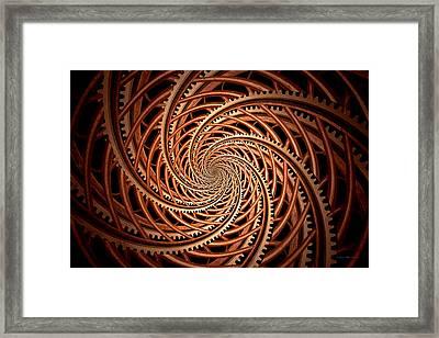 Abstract - Spiral - Mental Roller Coaster Framed Print