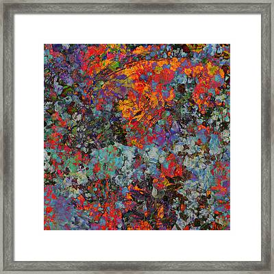 Framed Print featuring the mixed media Abstract Spring by Ally  White
