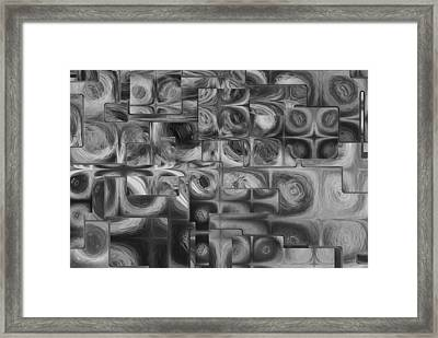 Abstract Squared Framed Print by Jack Zulli