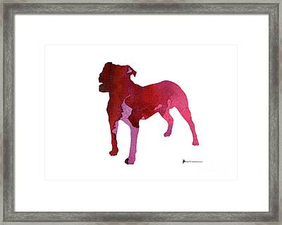 Abstract Staffordshire Terrier Watercolor Art Print Painting Framed Print