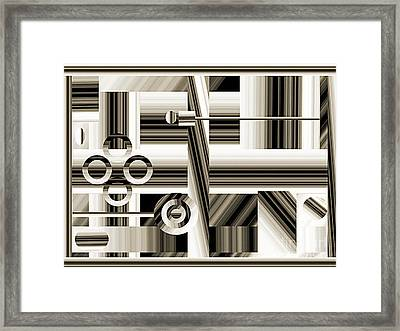 Abstract Station The Road To No Where Framed Print by Andee Design