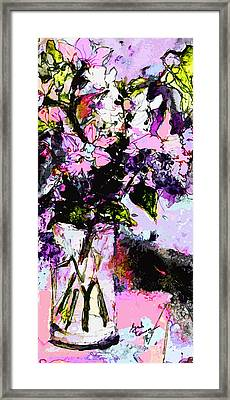 Abstract Still Life In Lavender Framed Print by Ginette Callaway