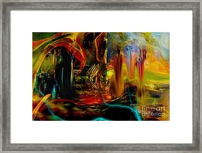 Abstract Stranded Ship Framed Print