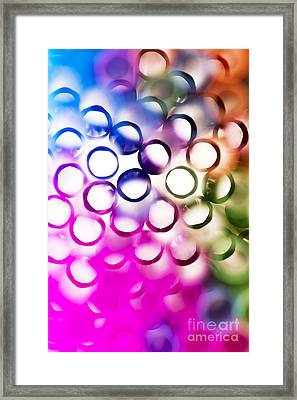 Abstract Straws 2 Framed Print by Jane Rix