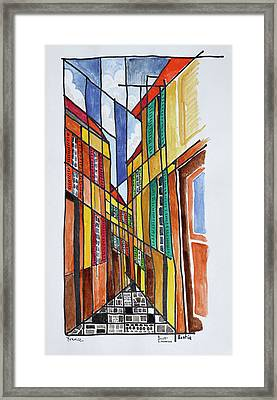 Abstract Streets Of Bastia, Corsica Framed Print