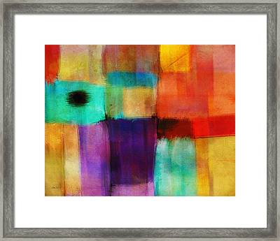 Abstract Study Three By Ann Powell Framed Print