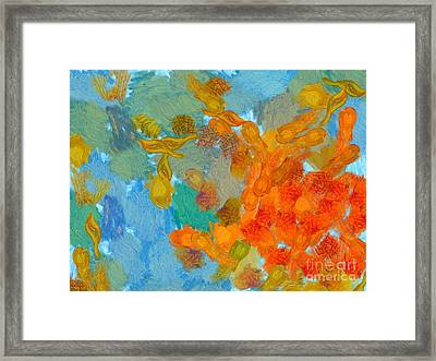 Abstract Summer #2 Framed Print by Pixel Chimp