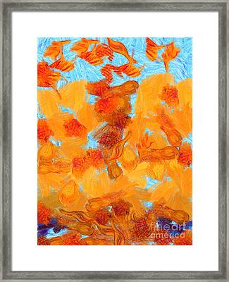 Abstract Summer Framed Print by Pixel Chimp