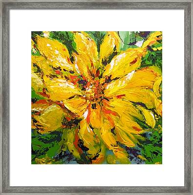 Abstract Sunflower Framed Print