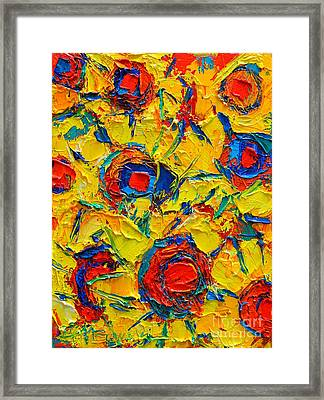 Abstract Sunflowers Framed Print by Ana Maria Edulescu