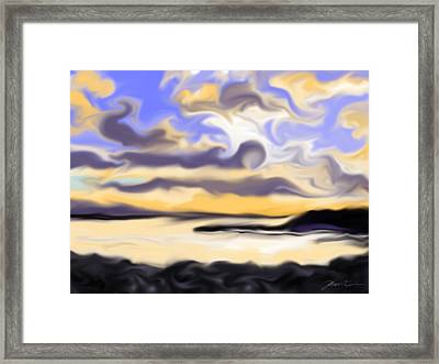 Abstract Sunset Black Point Maine Framed Print by Jean Pacheco Ravinski