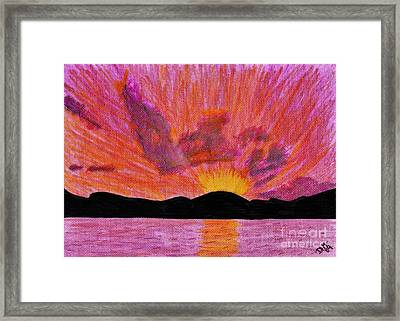 Abstract - Sunset Framed Print
