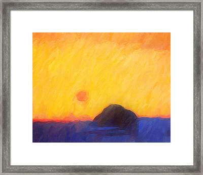 Abstract Sunset Framed Print by Lutz Baar