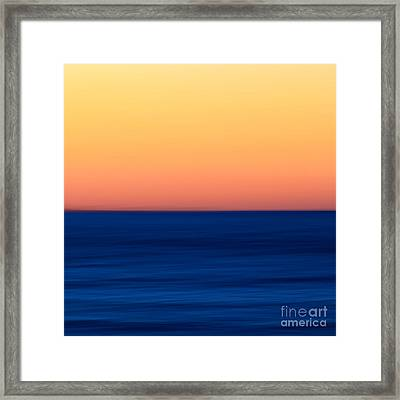 Abstract Sunset Over The Ocean Framed Print by Katherine Gendreau
