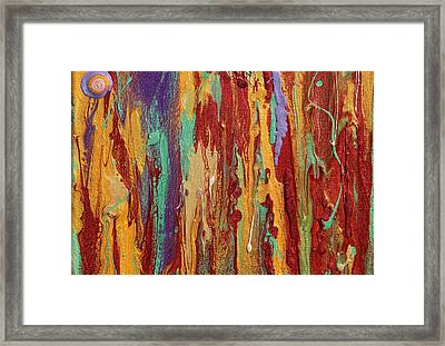 Abstract Sunset Over Tuscany  Framed Print by Julia Apostolova