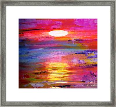 Abstract Sunset Framed Print