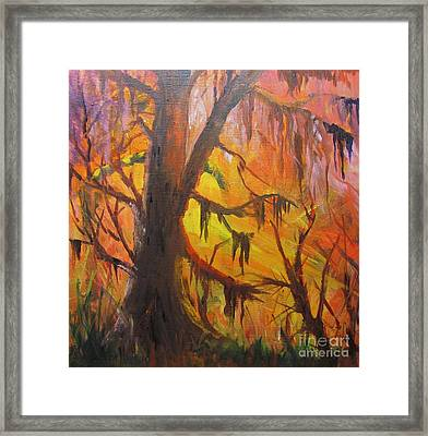 Abstract Swamp Framed Print