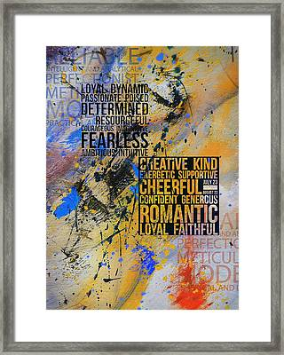 Abstract Tarot Art 018 Framed Print