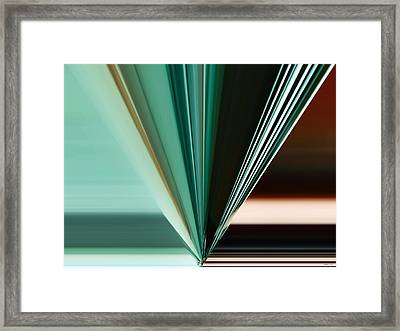 Abstract - Teal - Aqua - Five Framed Print by Kathy K McClellan