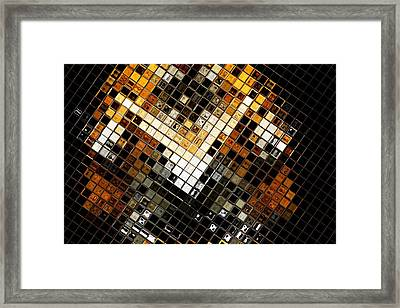 Abstract Tiger Framed Print by Tommytechno Sweden